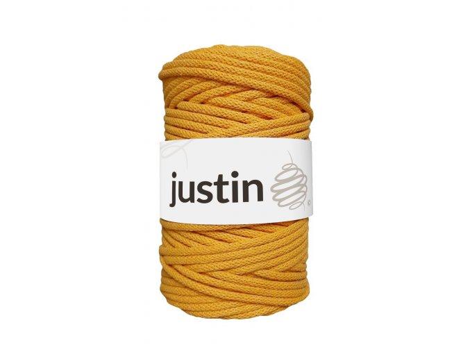 Bavlněné šňůry JUSTIN 5 mm zlatá