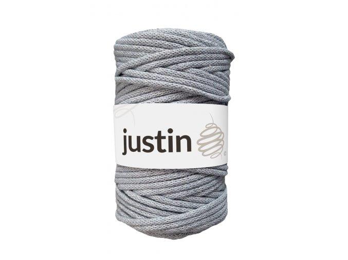 Bavlněné šňůry JUSTIN 5 mm šedá
