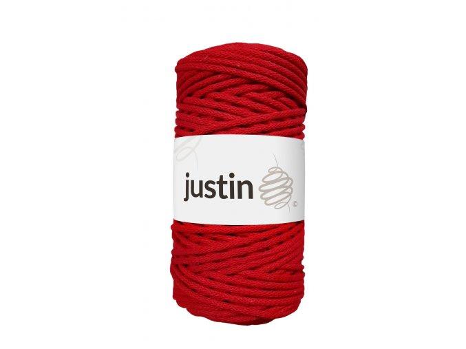 Bavlněné šňůry JUSTIN 3 mm červená