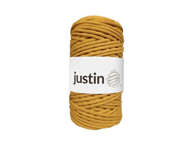 Bavlněné šňůry JUSTIN 3 mm hořčice