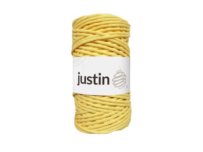 Bavlněné šňůry JUSTIN 3 mm citron