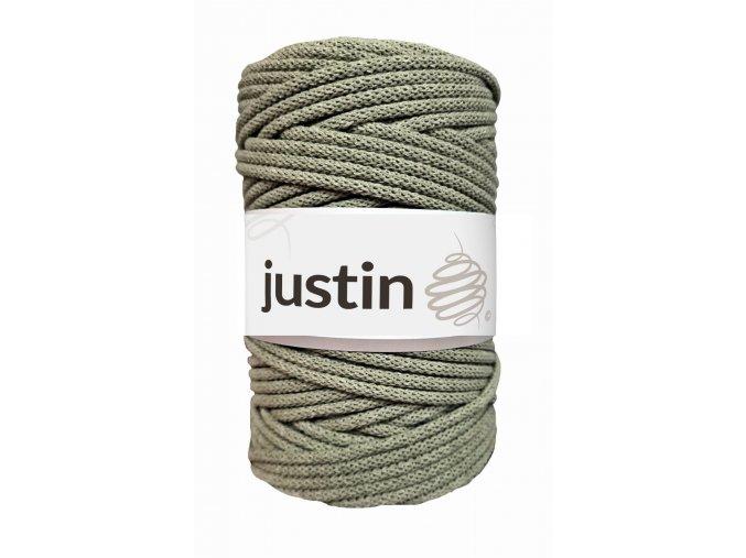 Bavlněné šňůry JUSTIN 5 mm olivová jasná