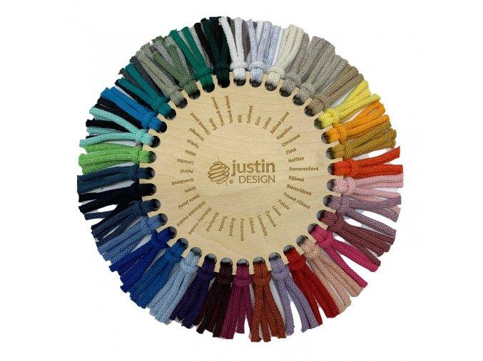 Justin šňůry vzorník barev