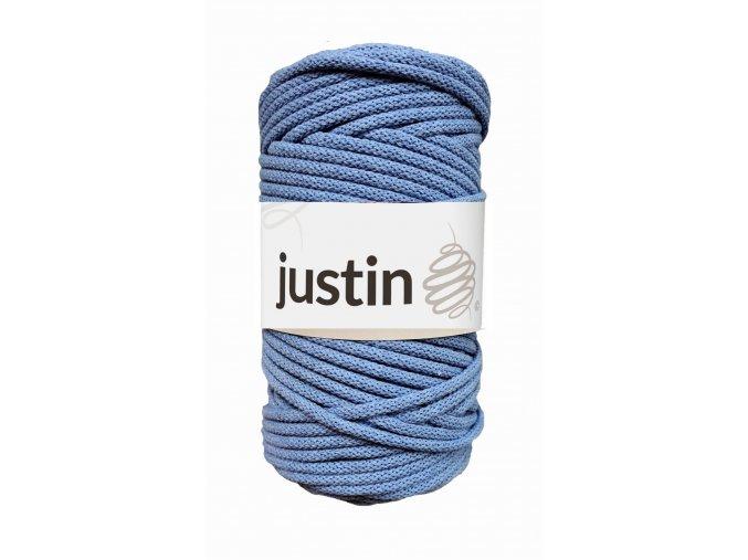 Bavlněné šňůry JUSTIN 3 mm jeans jasný