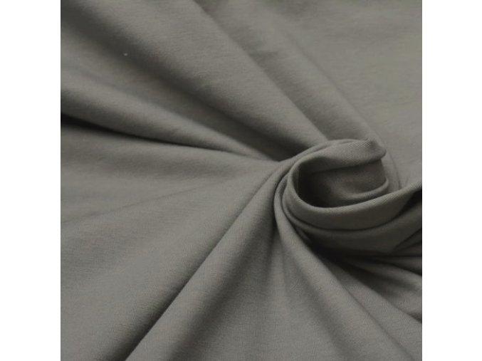 8192 Bavlněný úplet šedý