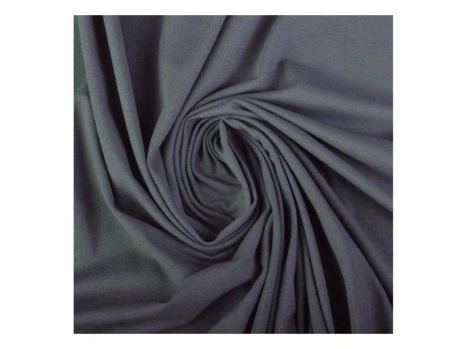 5282 Bavlněný úplet šedý kovový II. jakost