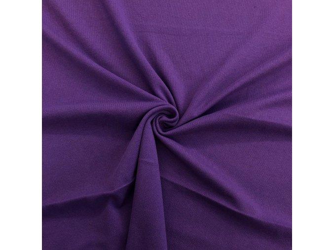 4006 Bavlněný úplet fialový