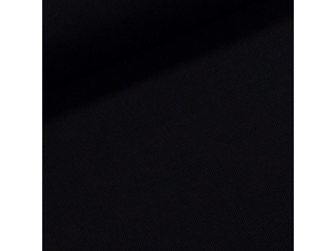 9005 Bavlněný úplet černý žebrovaný