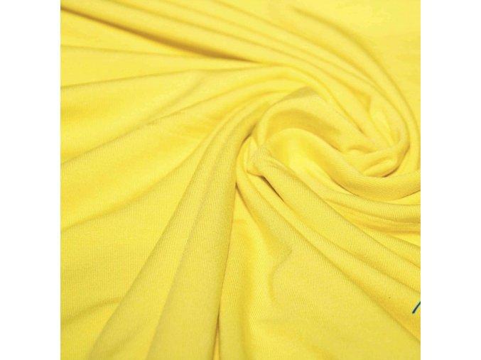2021 Bavlněný úplet žlutý