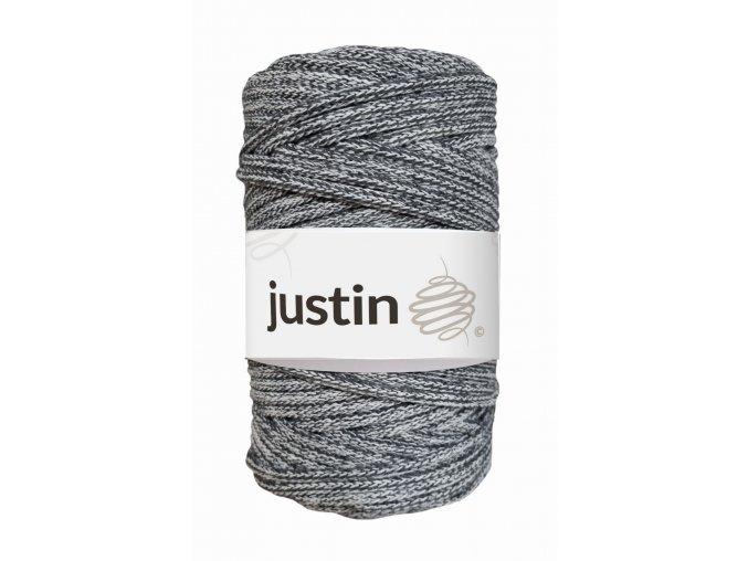 Bavlněné šňůry JUSTIN 5 mm mix grafit/bílá