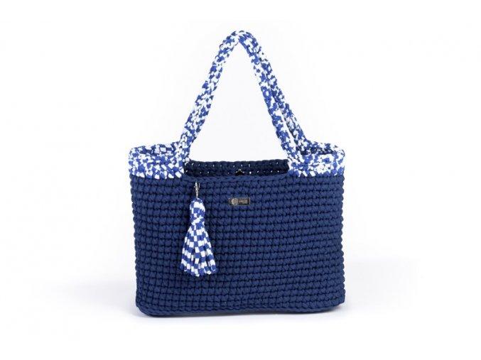Háčkovaná kabelka Justýna tmavě modrá námořnická
