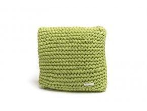 Pletený polštář 40x40 cm limetka