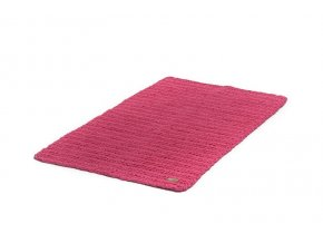 Háčkovaný koberec růžový 60x100 cm