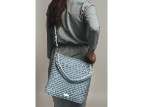 Háčkovaná crossbody kabelka Viktorie světle šedá