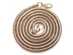Řetízkový popruh na kabelku had zlatý