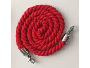 Provazový popruh ke kabelce červený