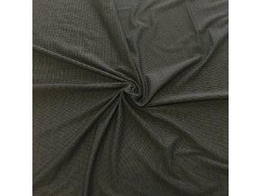 8195 Bavlněný úplet tmavě šedý zrněný