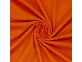 3201 Bavlněný úplet tmavě oranžový