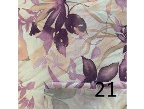 2023 Bavlněný úplet žlutý
