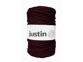 Bavlněné šňůry JUSTIN 5 mm burgund