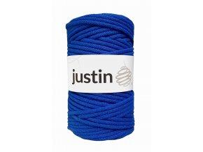 Bavlněné šňůry JUSTIN 5 mm královská modrá