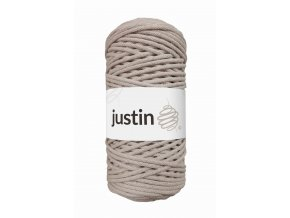 Bavlněné šňůry JUSTIN 3 mm béžová jasná