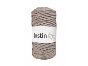 Bavlněné šňůry JUSTIN 3 mm lněná