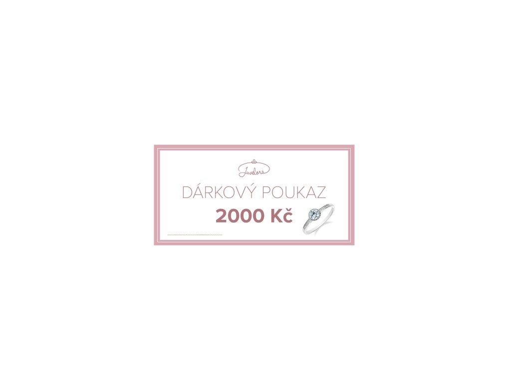 Dárkový poukaz - 2000 Kč