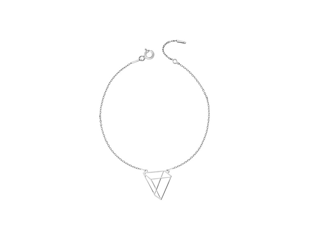 Stříbrný náramek s trojúhelníkem - Meucci SLB006
