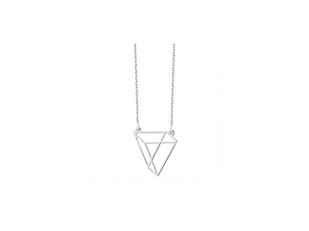 Stříbrný náhrdelník se vzorem hranolu lásky - Meucci SLN014