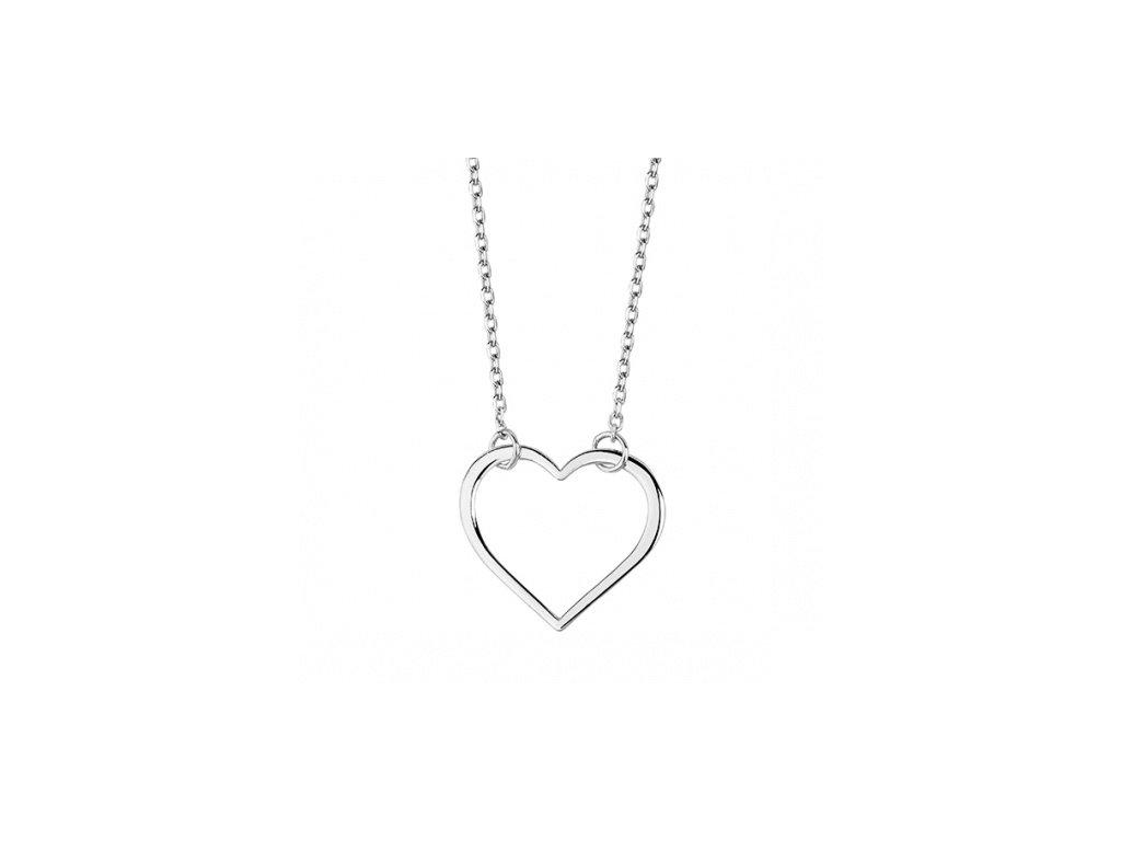 Náhrdelník ze stříbra s ozdobou ve tvaru srdce - Meucci SLN020
