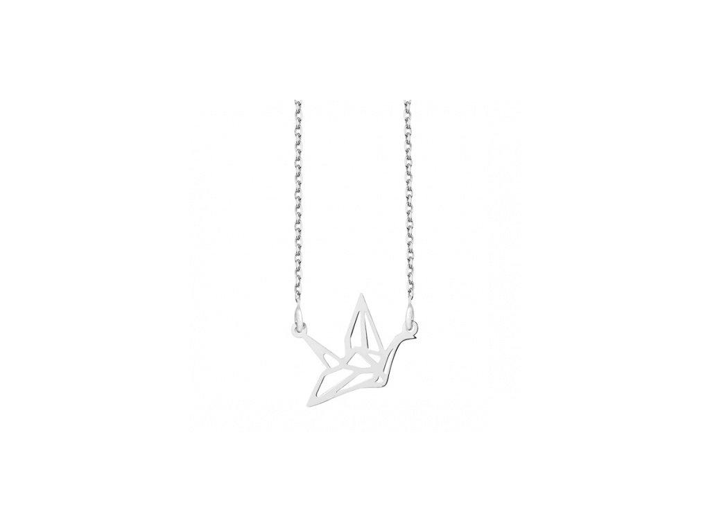 Stříbrný náhrdelník s labutí - Meucci SLN026