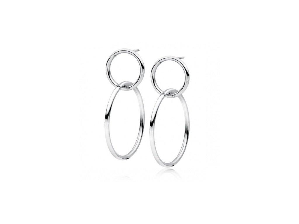 Stříbrné náušnice s kruhy - Meucci SLE071