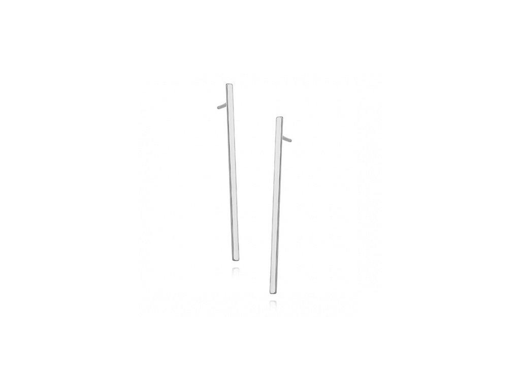Stříbrné tyčinkové náušnice - Meucci SLE287