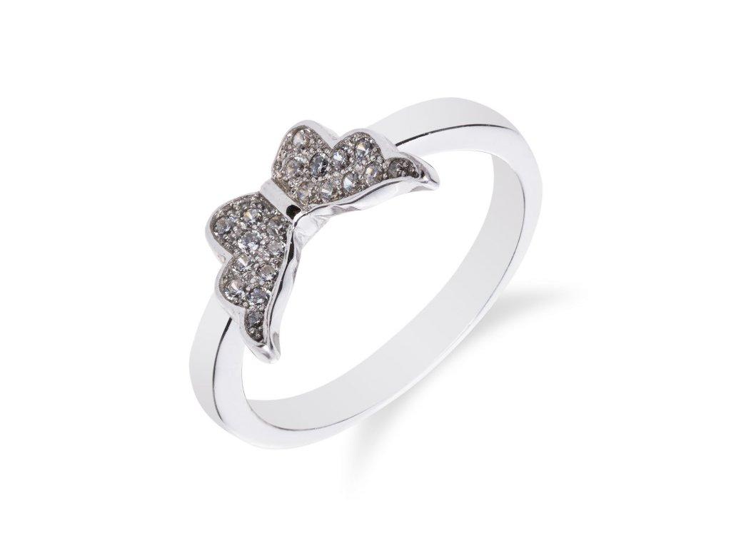 Roztomilý stříbrný prsten s motýlkem - Meucci SM36R