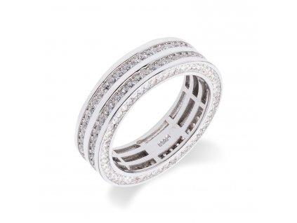 Luxusní stříbrný prsten s desítkami zirkonů - Meucci SS54R