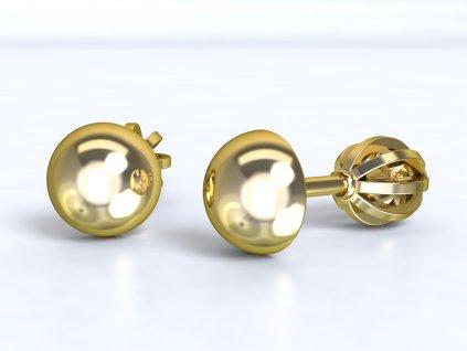 Zlaté bodové náušnice  - 3Dstyl 21020102