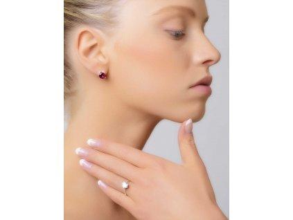 Prsten z bílého zlata s výrazným zirkonem - 3Dstyl 30990101