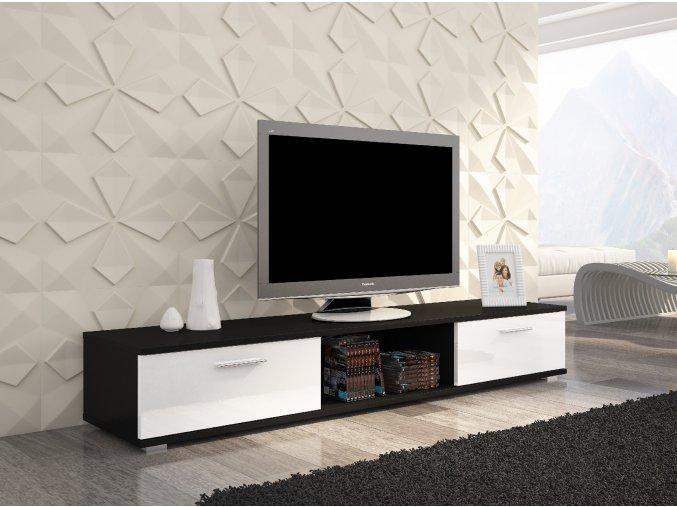 Black mat+white shine