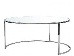 Konferenční stolek stříbrný 113989
