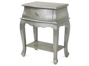 Noční stolek stříbrný 104746