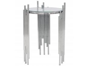 Konferenční stolek stříbrný 1