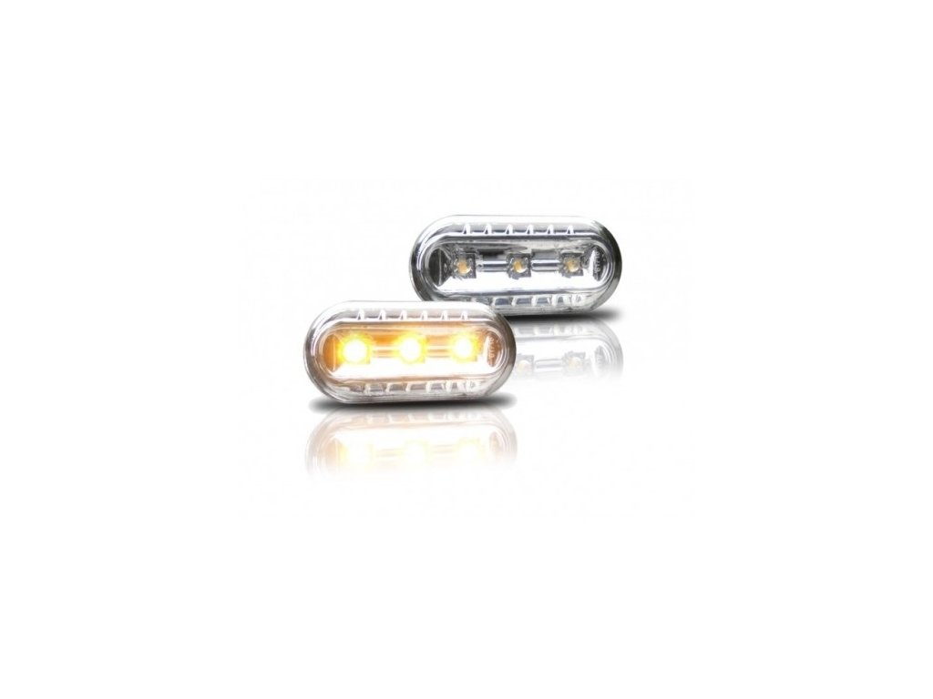 Boční blinkry LED Ford Focus MK2, chromové