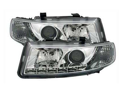 Přední světla LED Seat Toledo 1M, chromové