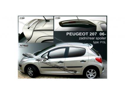 Střešní spoiler - stříška Peugeot 207 2006 - 2012