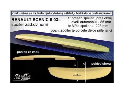 Střešní spoiler Renault Scenic II 2003