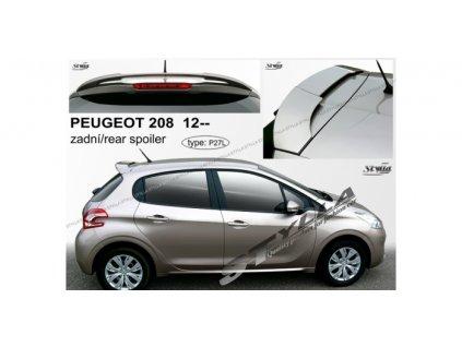 Střešní spoiler - stříška Peugeot 208 2012-