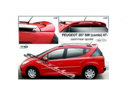 Střešní spoiler Peugeot 207 SW combi 2007-