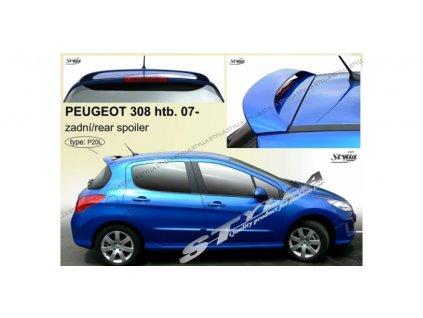 Střešní spoiler - stříška Peugeot 308 2007 - 2013