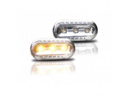 Boční blinkry LED Ford Fusion, chromové
